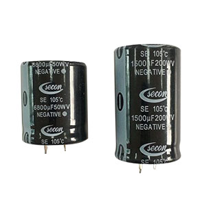 SNAP-IN TYPE ALUMINUM ELECTROLYTIC CAPACITOR
